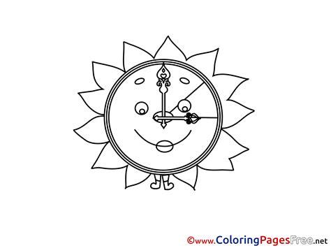 printable sun clock sun clock printable coloring pages summer printable