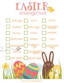 Easter Scavenger Hunt by Pics Photos Free Printables Easter Basket Scavenger Hunt