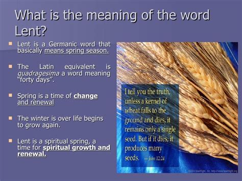 what is the origin of the word the season of lent