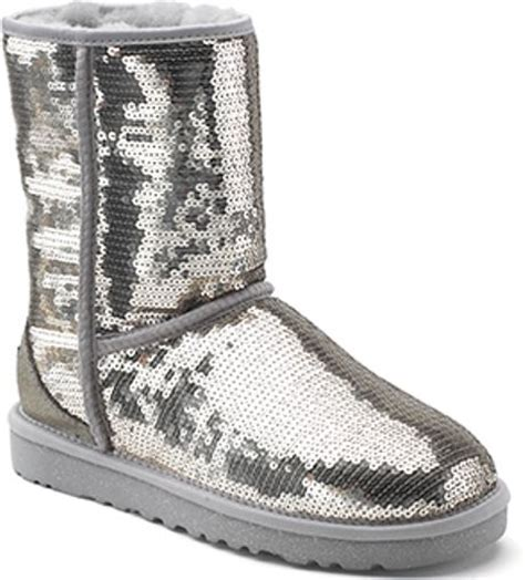 ugg classic sparkles silver sequin covered sheepskin