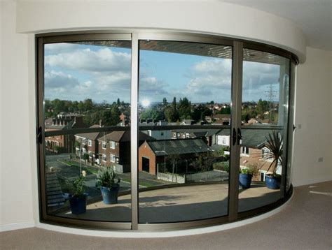 Curved Patio Doors Curved Glass Sliding Doors Image Gallery Balcony Systems