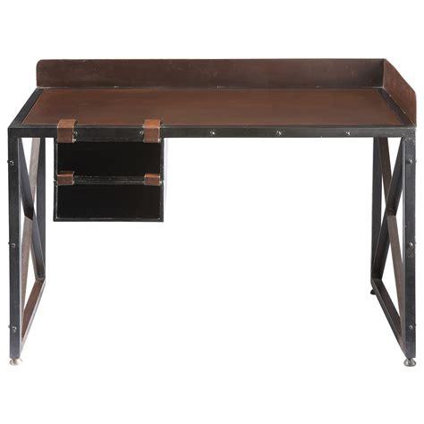 scrivania metallo scrivania in metallo effetto ruggine l 120 cm achille