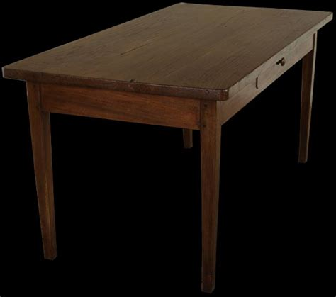antique elm thick top farmhouse table with drawer