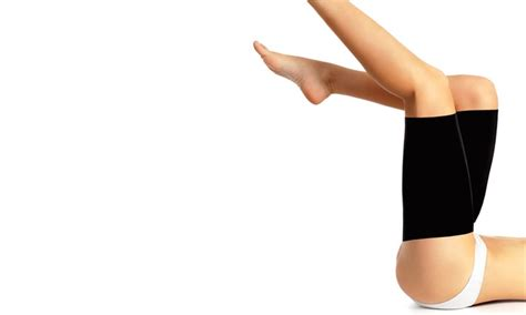 Compression Thigh Wrap Copper Detox Slimming compression thigh wrap slimmers groupon goods