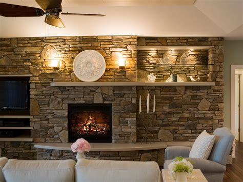stone wall fireplace living room mediterranean with accent amiably warm living room ideas with stone fireplace abpho