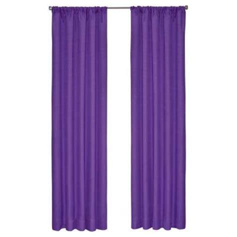 Purple Cafe Curtains Eclipse Kendall Blackout Purple Curtain Panel 84 In