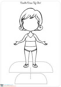 free coloring pages of dress up doll cut outs