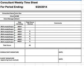 Consultant Template by Consultant Timesheet Template Free Premium