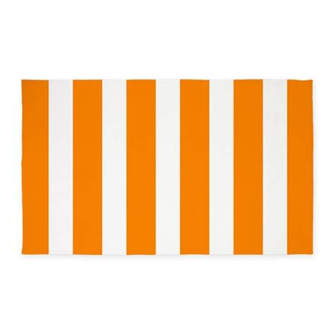 orange and white striped rug orange and white vertical stripes 3 x5 area rug by beautifulbed