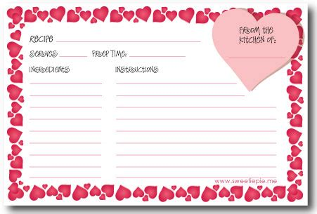 printable recipe for love cards dia de san valentin sweetie pie blog