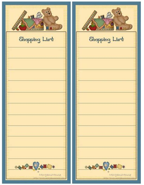 printable grocery list paper 69 best images about printable to do lists shopping lists