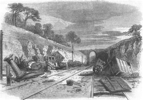 Reclaimed Railway Sleepers Scotland by Scotland Railway At Winchburgh Antique Print 1862