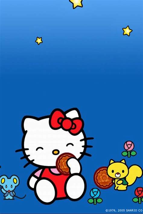 hello kitty mobile wallpaper free download hello kitty and animals iphone 4 wallpapers free 640x960