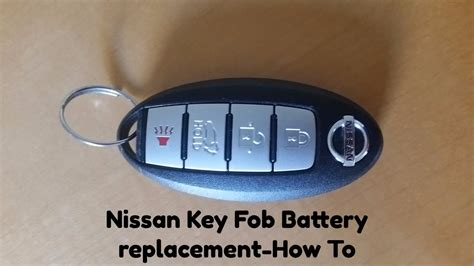 nissan key battery replacement how to replace nissan key fob battery nissan rogue 2014