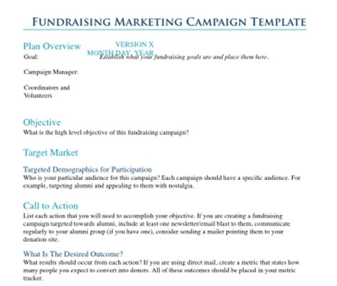 Your Next School Fundraiser Caign Planning Template And Metrics Tracker Diamond Mind Fundraising Marketing Plan Template
