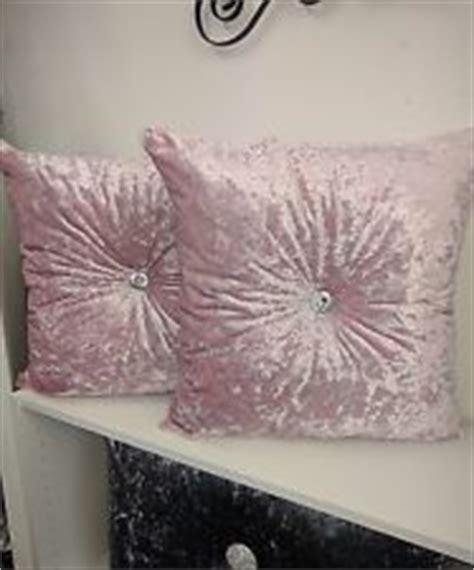 baby pink crushed velvet sofa velvet cushions home decor ebay