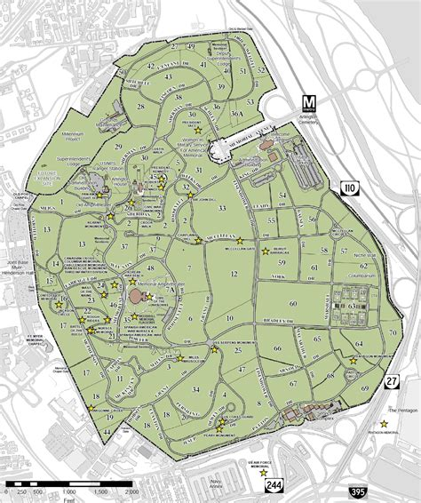 arlington national cemetery map file arlington national cemetery map 2013 jpg