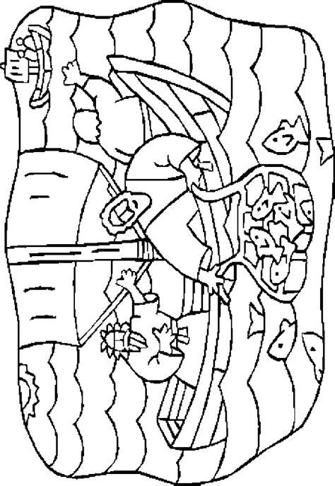 dibujos para colorear de la pesca milagrosa la pesca milagrosa dibujos b 237 blicos para colorear