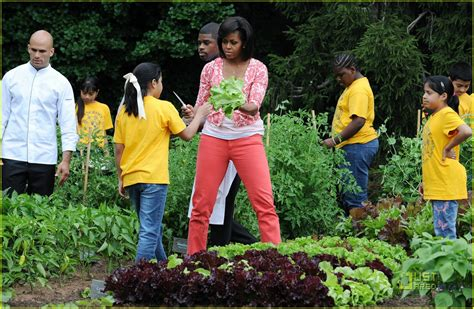 First Lady Michelle Obama To Harvest The White House Obama Vegetable Garden