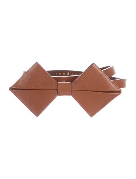 Bow Accent Pen sandro thin bow accent belt accessories ws226870 the