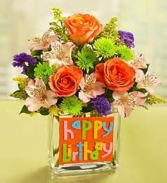 birthday bouquet happy birthday bouquet in rectangle vase