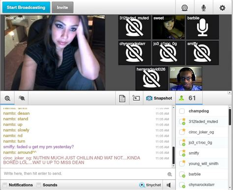 free live video chat rooms tinychat a web based video chat room