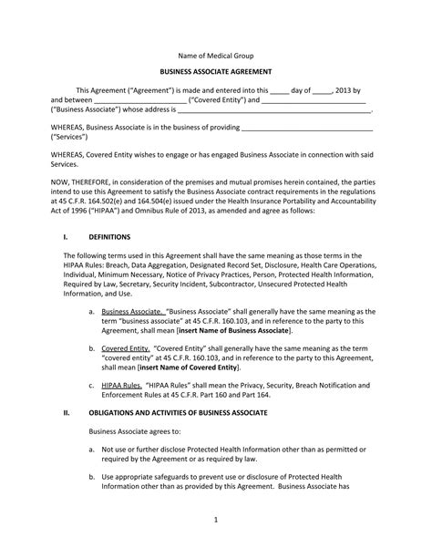 baa agreement template 100 service contract termination letter template