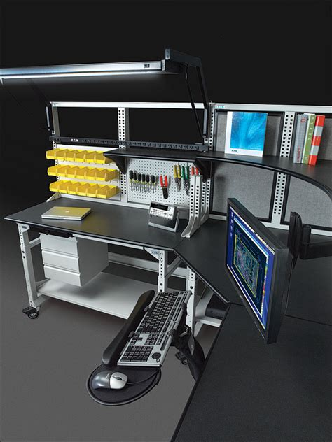 tech office furniture techbench and techorganizer desk workbench system