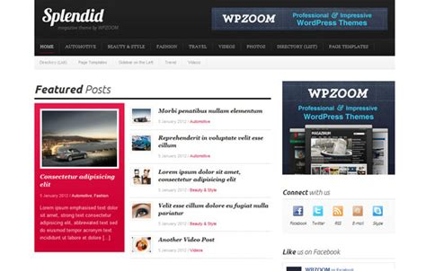 themes wordpress español premium splendid wpzoom premium wordpress theme wordpress