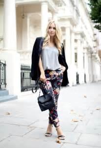 Light Blue Tuxedo Feminine Floral Trousers Leggings Your Essential Fashion