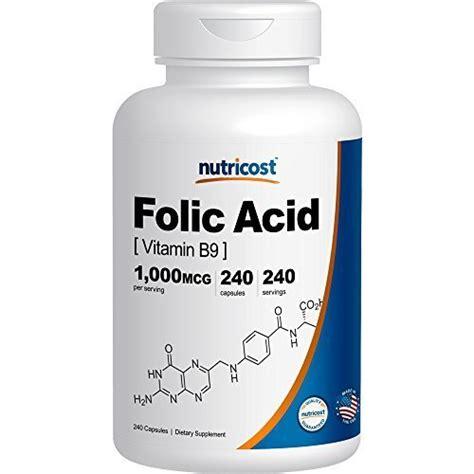 Vitamin Folic Acid nutricost folic acid vitamin b9 1000 mcg 240 capsules