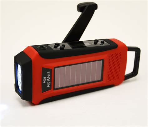 Lu Emergency Solar Cell emergency survival solar crank powered led flashlight cell charger radio other