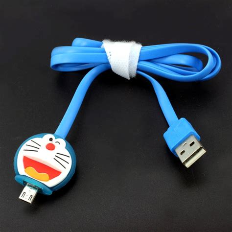 Kabel Data kabel data micro usb led karakter doraemon
