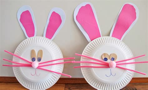 paper craft ideas easter bunny paper plate craft images craft decoration ideas