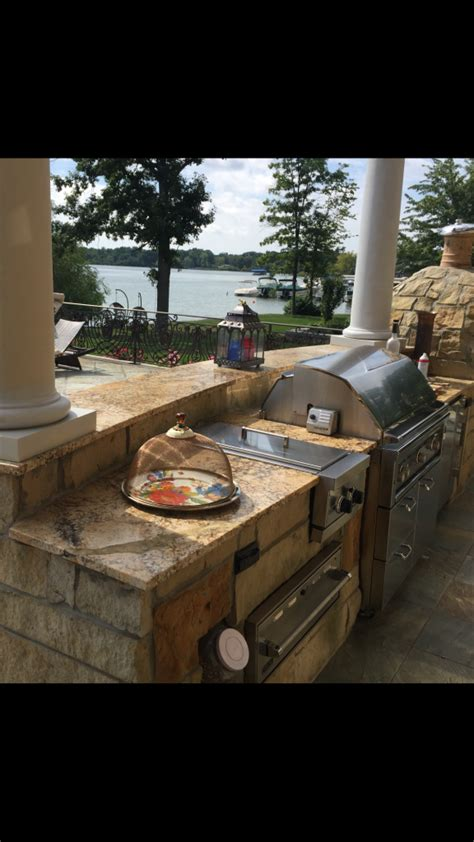 typhone boaurdoux exotic granite table with granite bases outdoor bbq grill with leather finish solarious