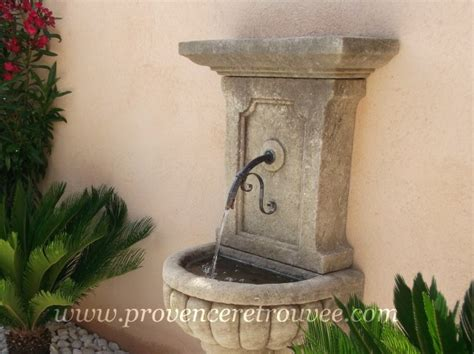 fontaine murale reconstituee exterieure de jardin installer une fontaine en dans jardin