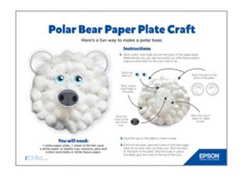Polar Paper Plate Craft - epson polar paper plate craft ichild
