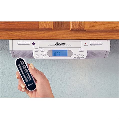 under kitchen cabinet radio cd player memorex 174 under cabinet mount am fm clock radio cd