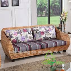 Two Seater Sofa Living Room Ideas High Quality Modern Balcony Sunroom Wicker Indoor Rattan Sectional Two Seat Sofa Living
