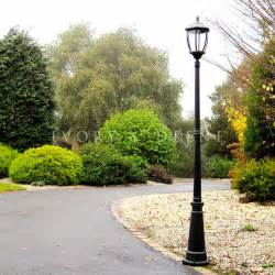 solar lights driveway solar garden l post black style outdoor