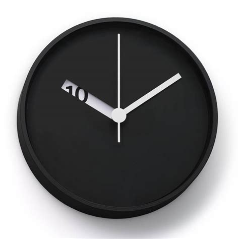 cool house clocks the extra normal wall clock has an extra clever design