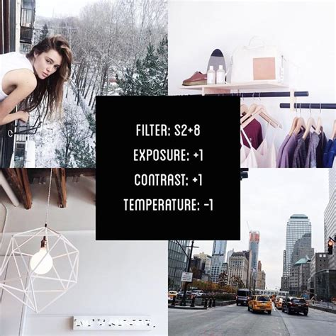 tutorial edit menggunakan vsco cam vscocam filter s2 8 exposure 1 contrast 1 temperature