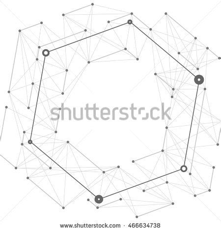 geometric network pattern broken connection network 3d polygon wireframe stock