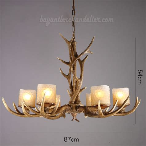 Cheap Elk 6 Antler Chandelier Six Cast Candle Style Cheap Ceiling Chandeliers