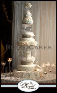 Pink Crystal Chandeliers Wedding Cakes Royal Cakes