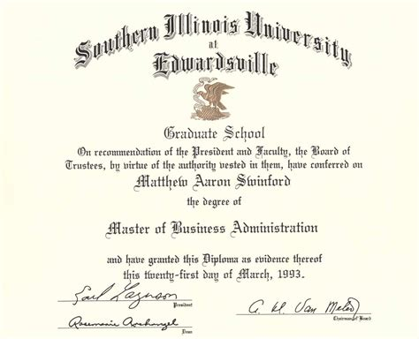 Of Southern Illinois Mba by Education Matt Swinford S Portfolio
