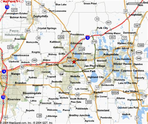 central florida cities map map of central florida cities fl