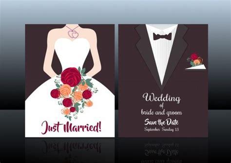 خلفيات فكتور بطاقه دعوه زفاف Wedding Card Cover Template Bride Groom Fashion Background Free Free Groomsman Card Template