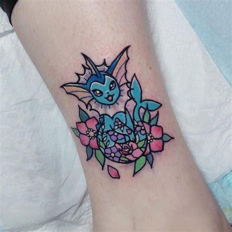 vaporeon tattoo kawaii style vaporeon on the leg