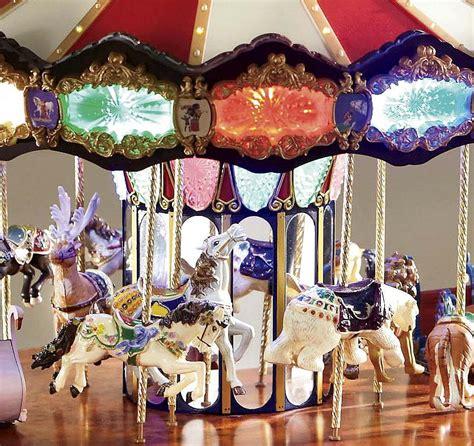 carousel merry go round rotating music animated christmas